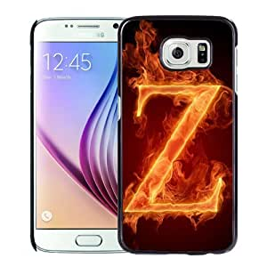 Unique Designed Cover Case For Samsung Galaxy S6 With Burning Letter Z Phone Case Cover