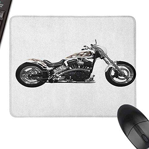 Keyboard Mouse Pad Manly Motorbike Hipster Style Dangerous Risky Ride Driving Vehicle Throttle Chopper for Office, Gaming, Learning,15.7