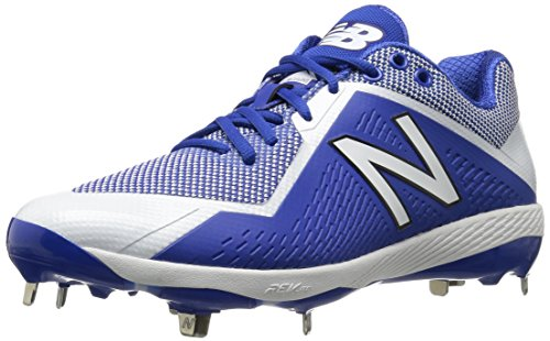 New Balance Men's L4040v4 Metal Baseball Shoe, Royal/White, 9.5 D US