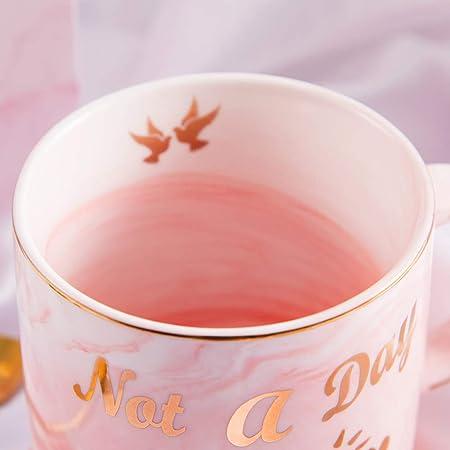Pink Ceramic Mug and Coaster