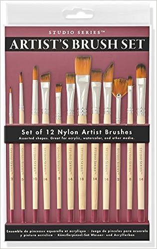 Studio Series Artist S Paint Brush Set 12 Highest Quality Nylon Brushes Peter Pauper Press 9781441322272 Amazon Com Books