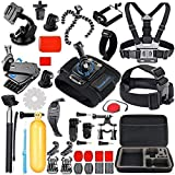 SmilePowo Sports Action Camera Accessory Kit for GoPro Hero 7,6,5 Black, Hero 5,4,3,2,1,Hero Session,GoPro Fusion, Hero 2018,DBPOWER,AKASO,APEMAN,Campark,SJCAM,XIAOYI2,Sony with Car Suction for GoPro