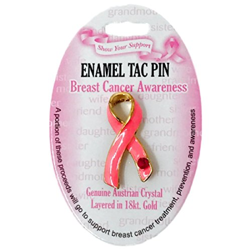 Pink Ribbon Breast Cancer Awareness Enamel Tac Pin