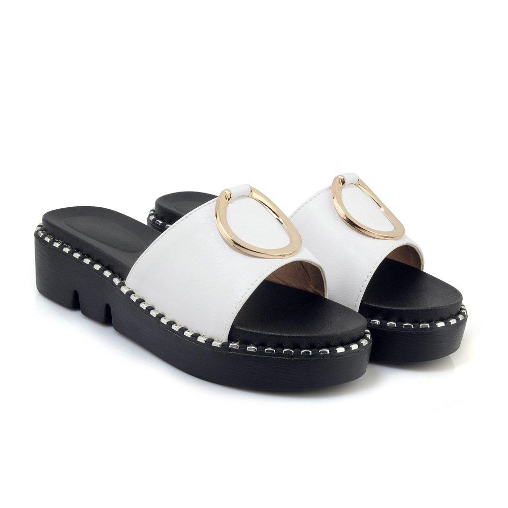 Sandales Blanc décontractées pour à Femmes, pour Chaussures à Talons, Pantoufles Blanc 010ad4c - avtodorozhniks.space