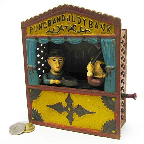 Design Toscano Punch and Judy Theater Collectors' Die Cast Iron Mechanical Coin Bank by Design Toscano
