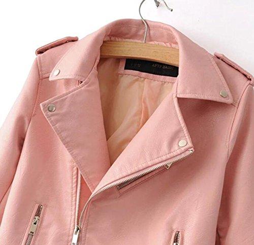 Maniche A Pink Sottile Lunghe Giacca Selvatici PnTqwHEw