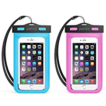 Universal Waterproof Case, CHOE 2Pack Clear Transparent Cellphone Waterproof, Dustproof Dry Bag with Neck Strap for iPhone 7/7 Plus/6s/6s Plus, Samsung Galaxy S7/S6 and All Devices Up to 6 Inches
