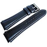 Di-Modell Pilot 22mm Long Black Leather Watch Strap