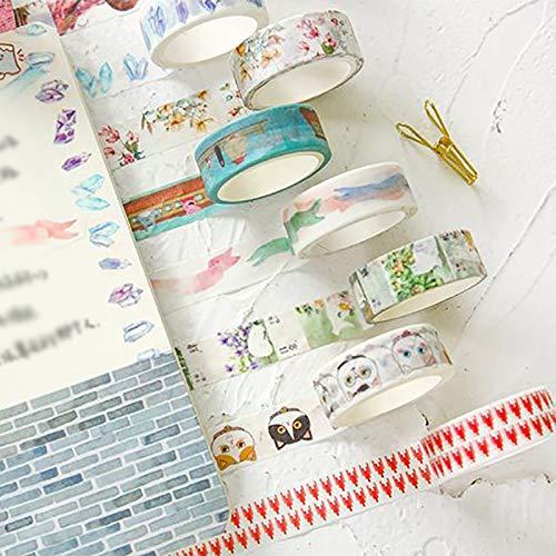 CAOLATOR D/écoratif Tape Ruban Adh/ésif 1.5cm*500cm DIY Chat Autocollants Papier Ruban de masquage Rainbow Paper Bande Masking Tape pour Scrapbooking Artisanat de Bricolage