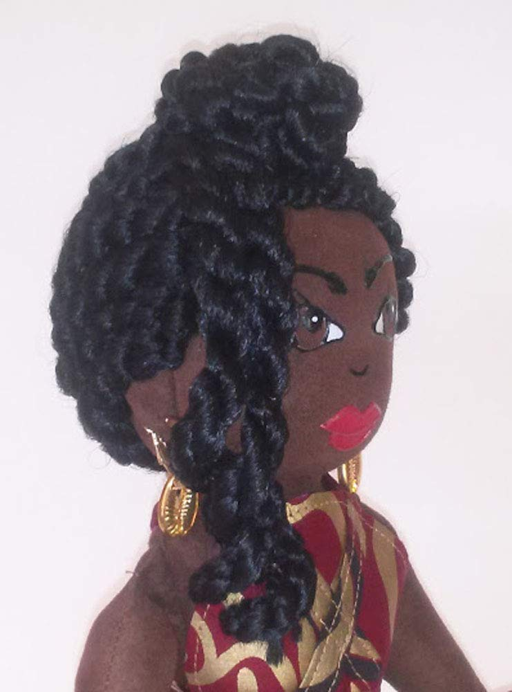 14 inch Doll Ethnic Doll Hand Painted Natural Hair Styles Collectible Doll Black Doll Maker Black Doll African Inspired Handcrafted African American Doll Multicultural Doll