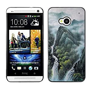 LECELL -- Funda protectora / Cubierta / Piel For HTC One M7 -- Design Japanese Mythical Forrest --