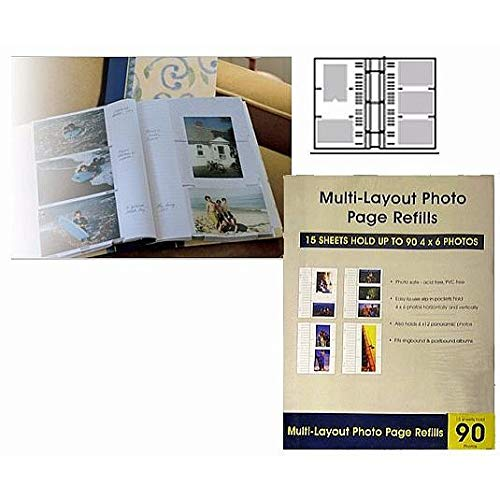 Genuine Holson/Burnes® 4x6 Tri-Channel flex pages for Post-bound and 2 or 3 ring albums Our price is for 3 units - 4x6