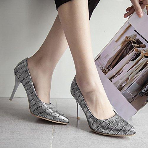 Vendible Compra Salida Calzature & Accessori argentati con cerniera con tacco stiletto per donna Qf4X6