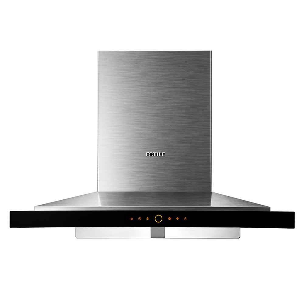 "FOTILE EMS9018 36""Wall-Mounted Chimney Stainless Steel Kitchen Range Hood with LED Lights"