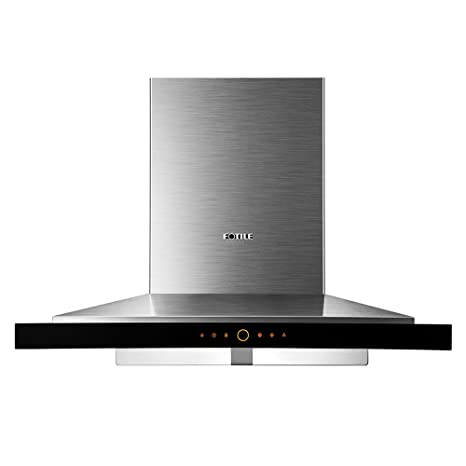 FOTILE EMS9018 36u0026quot;Wall Mounted Chimney Stainless Steel Kitchen Range  Hood With LED Lights