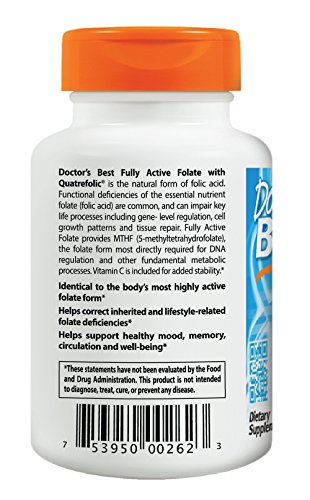 Doctor's Best Best Fully Active Folate 400mcg
