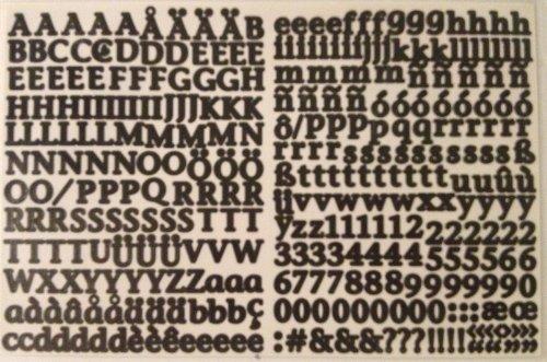 - Mini ABC/123 Stickers: Ebony Classy by Creative Memories