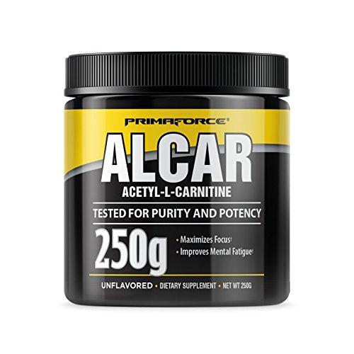 PrimaForce ALCAR Acetyl-L-Carnitine Powder Supplement, 250 Grams - Enhances Cognitive Function / Improves ()