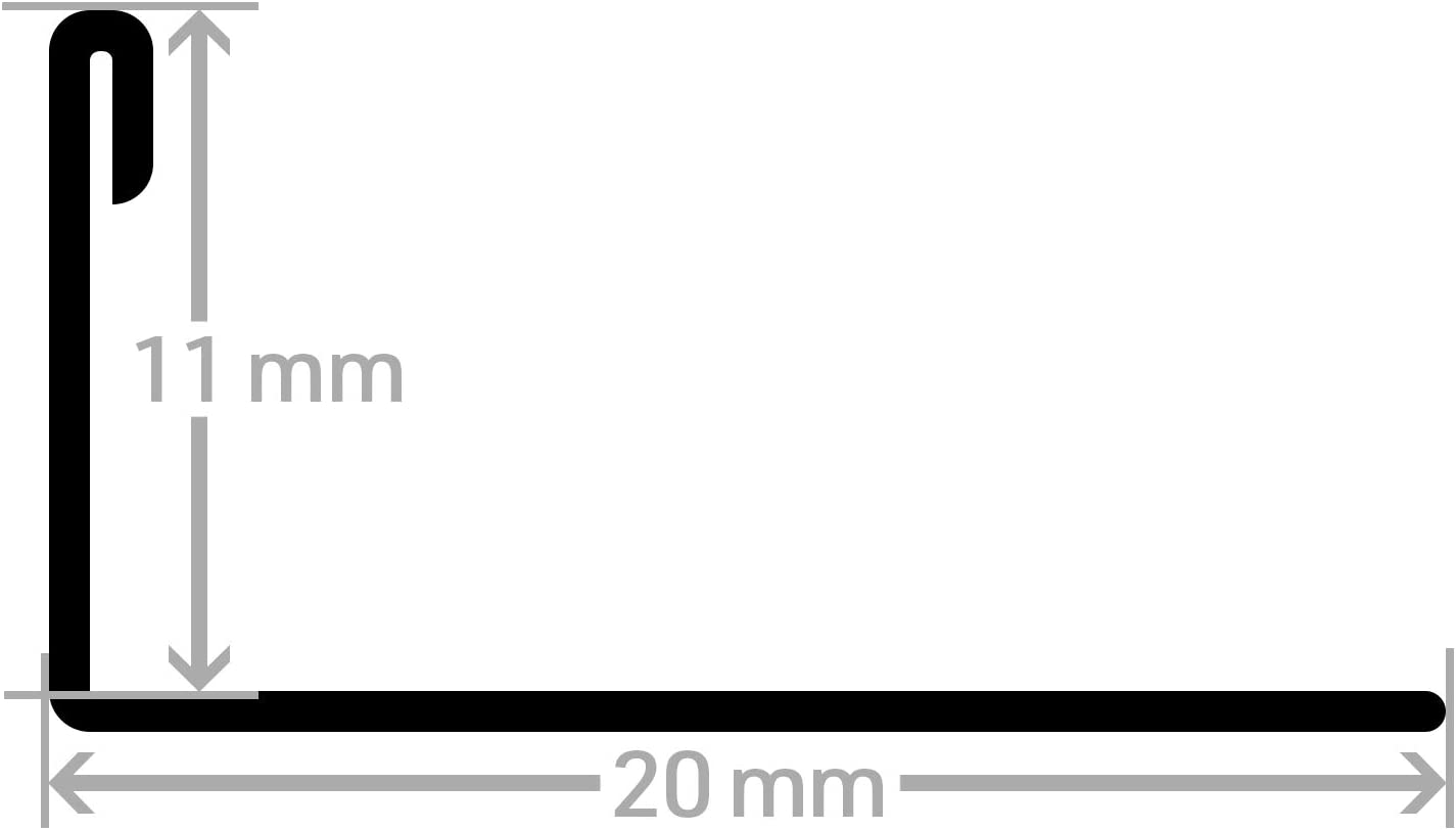 8 mm I Edelstahl imitiert geb/ürstet HORI Fliesenprofil I L/änge 2,50 m I Au/ßen-//Innenecke quadratisch I H/öhe