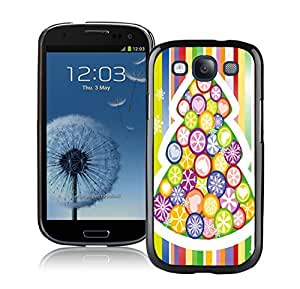 S3 Case,Rainbow Color Christmas Tree Silicone Black Samsung Galaxy S3 Case,S3 I9300 Protective Case