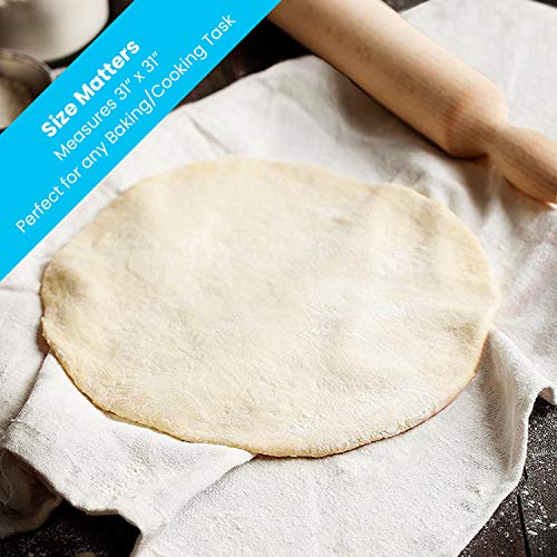 Zeppoli 12-Pack Flour Sack Towels – 31″ x 31″ Kitchen Towels – Absorbent White Dish Towels – 100% Ring Spun Cotton Bar Towel