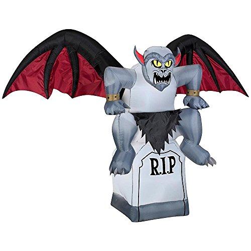 [Airblown Inflatables Airblown Inflatables Halloween Outdoor Decor Animated Gargoyle on a Tombstone] (Halloween Decor World Market)