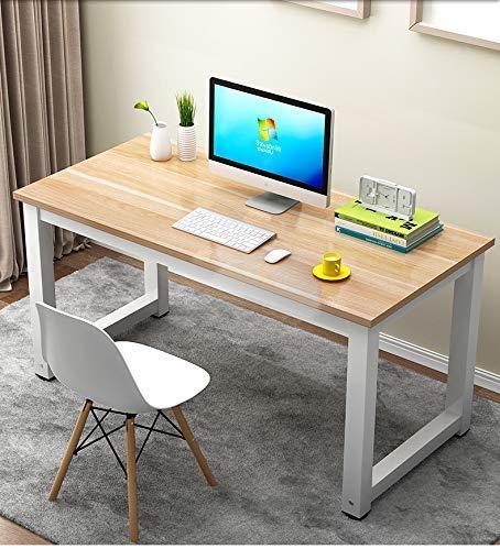 Liabb Mesa de Ordenador Mesa de PC de Madera mesas de Ordenador Modernas Mesa de Trabajo Mesa de conferencias Mesa de Escritorio Mesa de Ocio- El 100x60x75cm
