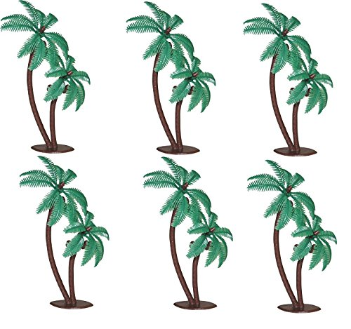 Tree Palm Bent - Oasis Supply Twin Coconut Palm Trees Cake Decorating Pick, 4-Inch, 12-Pack