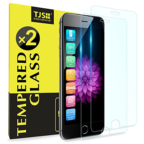 (2 Pack) iPhone 8 Plus/iPhone 7 Plus/iPhone 6s Plus/iPhone 6 Plus Tempered Glass Screen Protector, TJS 9H Surface Hardness/Anti-Fingerprint for Apple iPhone 8 Plus/7 Plus/6s Plus/6 Plus (Clear)