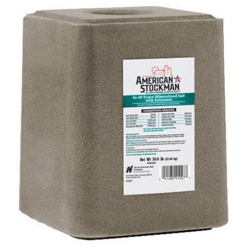 North American Salt 41027S American Stockman Selenium 90 Block Salt Pet Supplement, 50-Pound ()