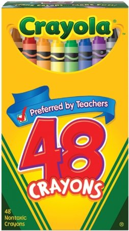 Crayola Crayons 48 pieces in A Jumbo Box (Pack of 6) 288 Crayons Total by Crayola