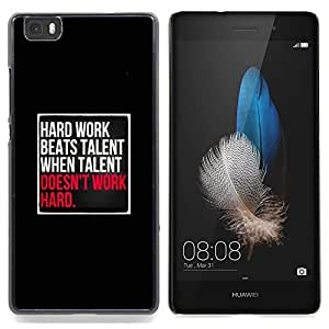 Eason Shop / Premium SLIM PC / Aliminium Casa Carcasa Funda Case Bandera Cover - Talento Inspiring Negro Rosa - For Huawei Ascend P8 Lite (Not for Normal P8)
