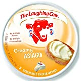 Laughing Cow Creamy Asiago Cheese Wedge, 6 Ounce - 12 per case.