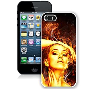 Fire Beauty (2) Hard Plastic iPhone 5 5S Protective Phone Case