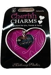 A Personal Bracelet/necklace/keychain's Name Charm: Samantha