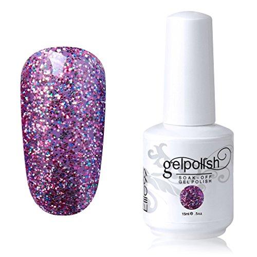 Elite99 Soak-off Gel Polish Lacquer Nail Art UV LED Manicure Varnish 15ml Glitter Light Pink 1864