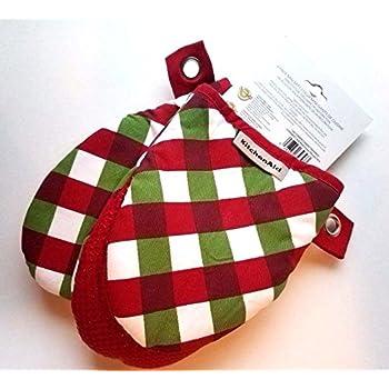 KitchenAid Mini Mitts 2 Pack (Christmas Plaid)