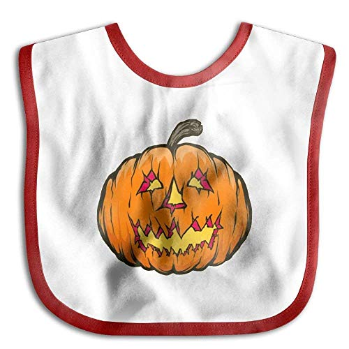 Soft,Cotton Polyester,Pumpkin Halloween Fruit Clever Halloween Costumes Waterproof Bib The Baby Bib Girl Lovely Baby Skin -