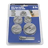 6pc 1/8' Shank High Speed Steel HSS Saw Disc Wheel Cutting Blades with Mandrels For Dremel Fordom Drills Rotary Tools
