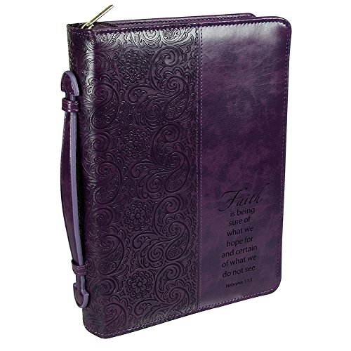 "Purple""Faith"" Bible/Book Cover - Hebrews 11:1 (Large) from Christian Art Gifts"