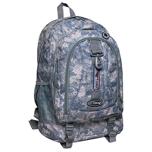 "Mens Womens Large 19.5"" Organizer Outdoor Hiking School Bookbag Backpack"