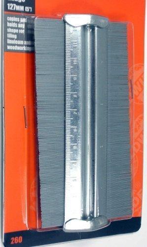 125mm 5'' Metal Professional Contour Profile Gauge Tiles Carpet Flooring by Worldwide Tools