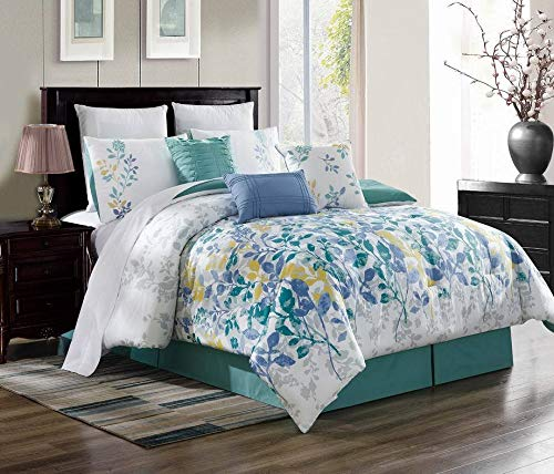 New Bed Collection 3PC Embroidery Duvet Comforter Bed Cover Set W/Pillow Shams Color Brenda #9 Size Queen from Unknown