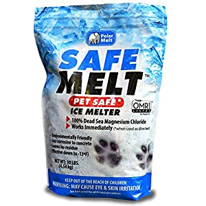 HARRIS Safe Melt Pet Friendly Ice and Snow Melter, Fast Acting 100% Pure Magnesium Chloride Formula, 10lb