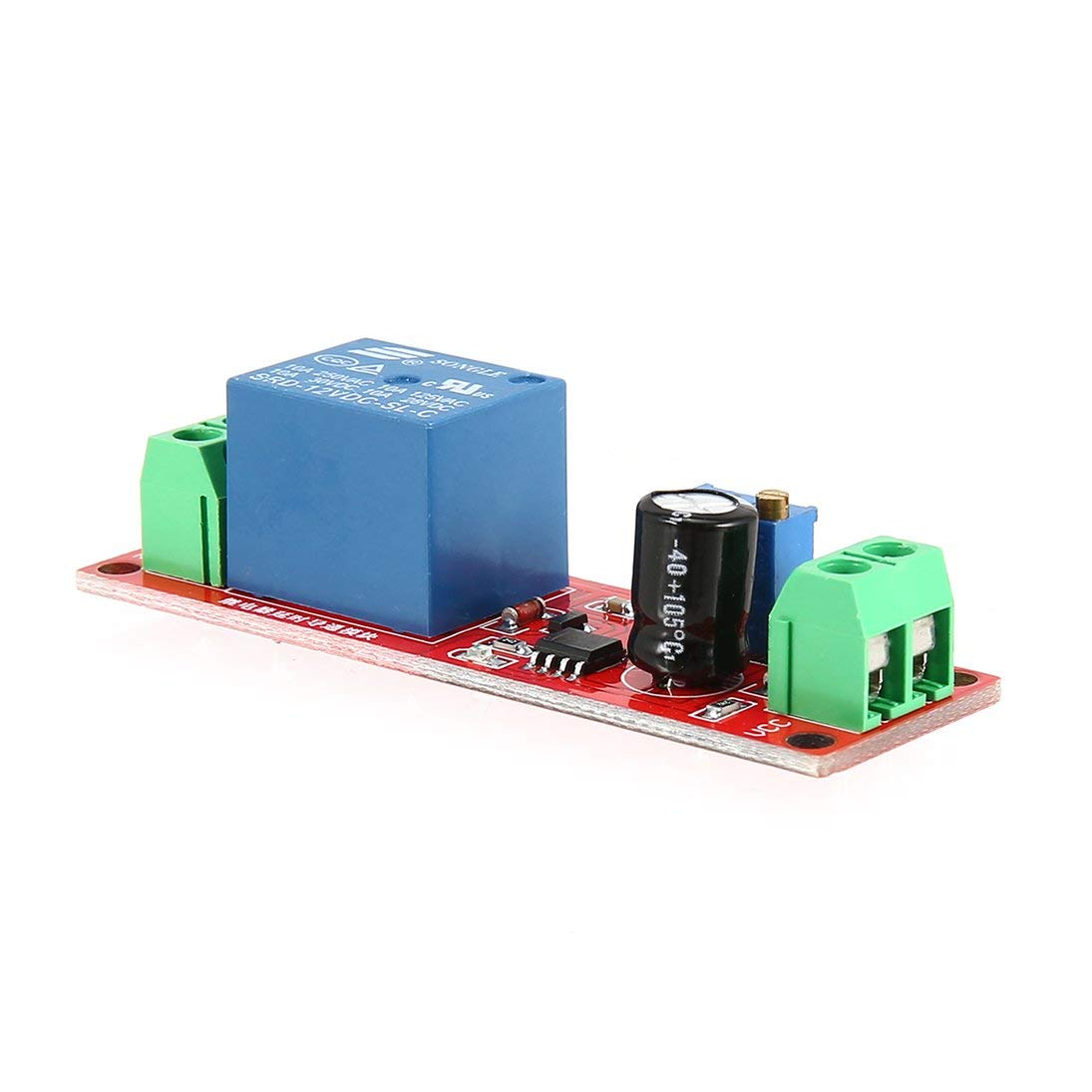 Baynne DC 12V NE555 Monostable Delay Relay Circuit Conduction Module Trigger Switch Timer Adjustable Time Shield Electronics Arduino by Baynne (Image #6)
