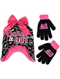 Girls' Little JoJo Siwa Hat and Gloves Cold Weather Set,...