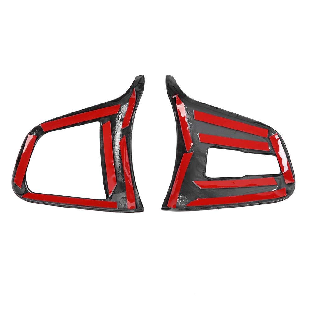 Cornice decorativa per pulsante volante per auto 2 pezzi in fibra di carbonio per interni auto Coprivolante per 1 2 serie X1 2016-2019