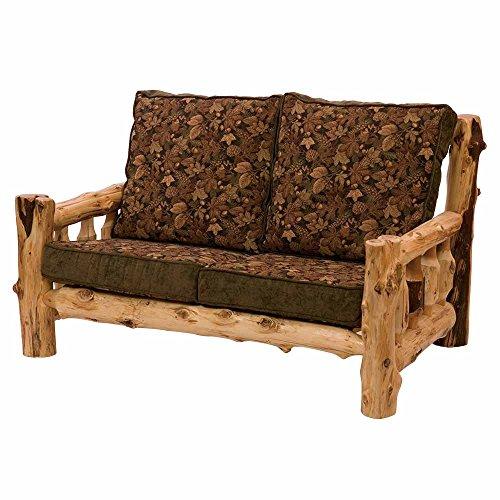 Cedar Western Loveseat (Cedar Log Frame Loveseat Real Wood Western Lodge Rustic Cabin)