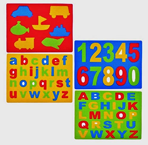 (Alphabet, Numbers and Shapes Foam Sponge Puzzles; 4-ct)