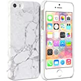 iPhone 5s Case, GMYLE Snap Cover Glossy for iPhone 5 / iPhone 5s - White Marble II Pattern Slim Hard Back Case